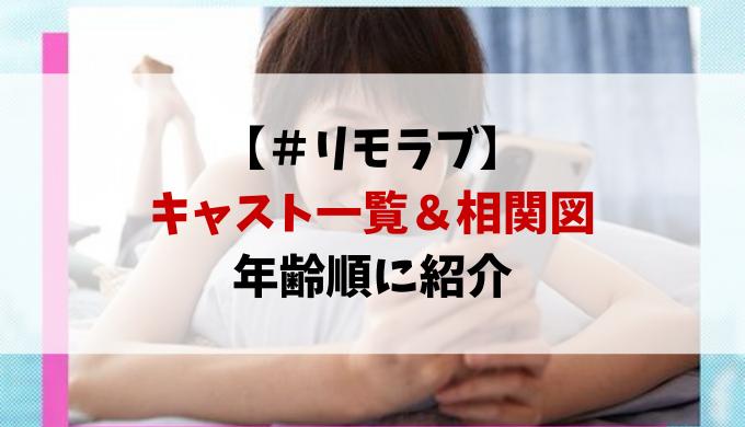 リモラブのキャスト相関図・全員を年齢順に紹介!