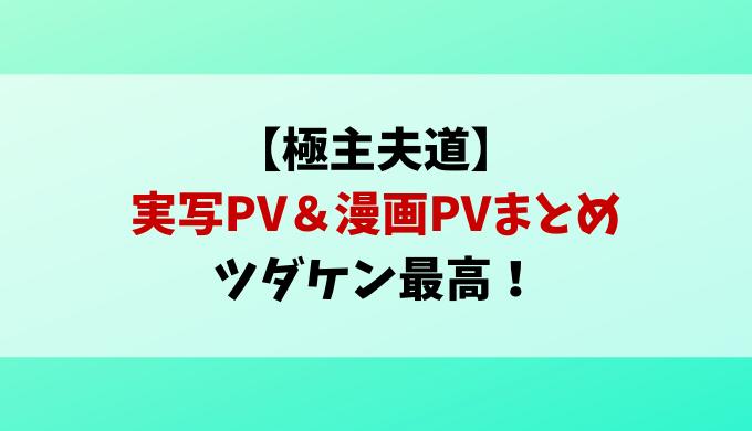 極主夫道ツダケン実写PVや漫画PVまとめて紹介!ドラマ出演しない理由も考察!