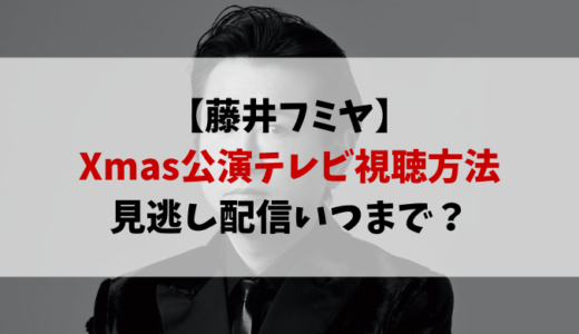 藤井フミヤのクリスマスライブ配信のテレビ視聴方法!見逃し配信いつまで?