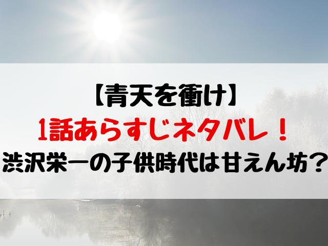 青天を衝け1話あらすじネタバレ!渋沢栄一の子供時代は甘えん坊?