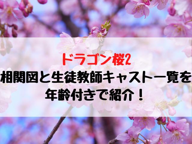 ドラゴン桜2相関図と生徒教師キャスト一覧を年齢付きで紹介!